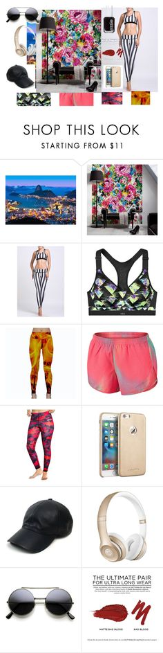 """""""Live it"""" by utitito on Polyvore featuring Brewster Home Fashions, NIKE, Married to the Mob, Vianel, Beats by Dr. Dre, Urban Decay, Essie, women's clothing, women's fashion and women"""