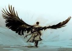 Never seen supernatural but look at this art.<-----How can you NOT have seen Supernatural? Everywhere you look, BAM!<<< I agree, amazing show Supernatural and a few other fandoms took over tumbler. Fanart Destiel, Supernatural Fan Art, Ange Demon, Winchester, Cool Art, Awesome Art, Nerd, Creatures, Sketches