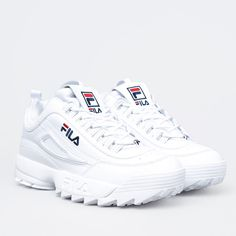 Womens shoes FILA DISRUPTOR 2 WHITE white: sale price in Kharkov. Sneakers Outfit Casual, Sneakers Fashion Outfits, Nike Outfits, Fila White Shoes, Cute Shoes, Me Too Shoes, Fila Disruptors, Sneakers Street Style, Aesthetic Shoes