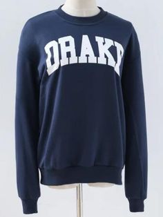 #Letter pattern round neck sweatshirt  ad Euro 24.24 in #Clothes #Moda