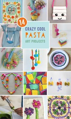 the best ideas for pasta crafts, from the Rockin' Art Moms