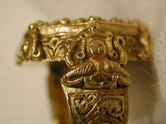 Gold harpy ring, found in Iran, c. 12th-13th cent. Metropolitan Museum of Art.