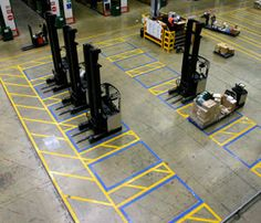 Durable-warehouse-line-marking