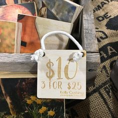 craft show pricing signs, signs for pricing crafts. Sign Display, Wood Display, Display Ideas, Craft Show Displays, Booth Displays, Price Signs, Wood Prices, Wooden Tags, Personalized Signs