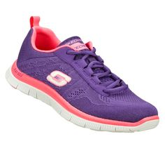 Memory Foam cushioned custom-fit comfort insole!!!! This is a must have <# Women's Flex Appeal - Sweet Spot Running Shoes Hit just the right combination of comfort and sporty style with the SKECHERS Flex Appeal - Sweet Spot shoe. Unique knit mesh fabric upper in a lace up sporty athletic training sneaker with stitching and overlay accents.