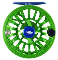Allen KRAKEN REEL SERIES - blue and green - Model 3 (7-9wt) - 30 lb backing, white - Force Taper Saltwater Floating 9 wt line