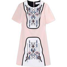 Peter Pilotto Short Dress ($1,525) ❤ liked on Polyvore featuring dresses, light pink, light pink dress, pink dress, pattern dress, light pink short dress and rayon dress
