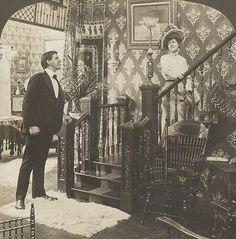 """""Greetings my lady"" 1890's"""