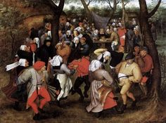 Brueghel, Pieter the Younger (1564-1638)  Peasant Wedding Dance  Date: 1624  Movement: Renaissance (Late, Mannerism)