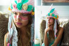 Bohemian Girl corona cumpleaños bohemio corona corona de