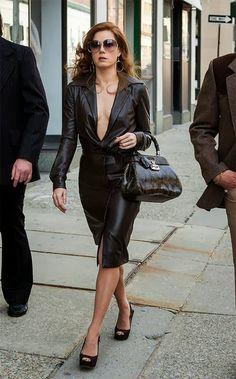 Amy Adams in Vintage Halston, Vintage Dior sunglasses and Vintage Gucci handbag