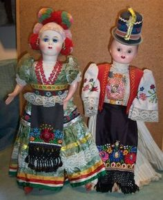 Hungarian very colourful dress Hungary, Art Dolls, Folk Art, Doll Clothes, Harajuku, Costumes, Embroidery, Modern, Stuff To Buy