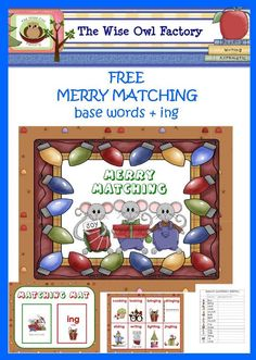 Free Merry Matching base words, drop the e, add ing center.  This link is to the blog post about it and there is a link to the free game by Wise Owl Factory.