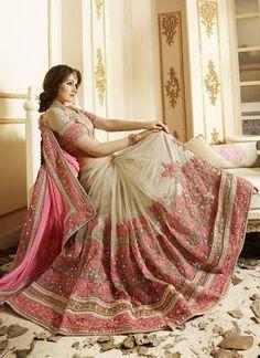 Bollywood Saree Indian Ethnic DESIGNER Pakistani Sari Party Wear Wedding Saree for sale online Indian Sarees Online, Silk Sarees Online, Chiffon Saree, Georgette Sarees, Pink Beige, Beige Colour, Pink Color, Bridal Lehenga, Saree Wedding