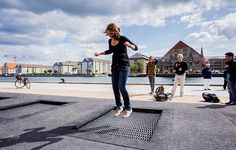 copenhagen public space - Google Search Urban Architecture, Space Architecture, Urban Intervention, Community Space, Public Realm, Playground Design, Urban Park, Parking Design, Public Garden