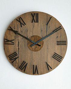Rustic Wooden Wall Clock   Home Essentials