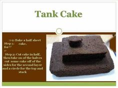 Tank Cake and more...                                                                                                                                                      More