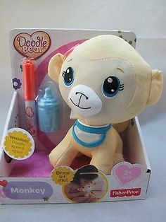 NEW Fisher Price Doodle Bear Mini Yellow Monkey ...that's Phoebe on the box!!!