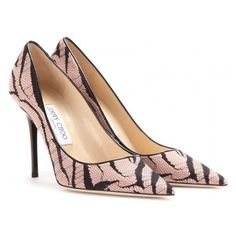 Pre-Owned Nib Jimmy Choo Abel Zebra Vintage Rose Sz 36 Pointed Toe... ($480) ❤ liked on Polyvore featuring shoes, pumps, pink, pointy toe pumps, pointed toe high heel pumps, metallic pointed toe pumps, vintage pumps and pink high heel pumps