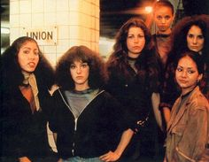 The Lizzies in the Union Square Station. Girl Gang from the Warriors.
