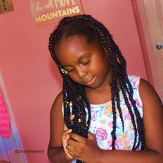 Easy and Fast Jumbo Box Braids with Twists   Natural Hair Protective Style https://youtu.be/zQo59EzrvL0