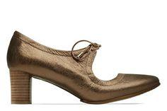 09b4ae9db16 Clarks Grace Isla - Bronze Leather - Womens Smart Shoes