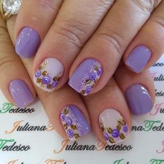 99 Pictures of Purple Nails Colors of 2018 Chic Nails, Dope Nails, Fun Nails, Pretty Nails, Nailart, Neutral Nails, Purple Nails, Nail Decorations, Cute Nail Designs