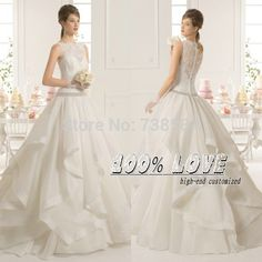Find More Wedding Dresses Information about Free Shipping  High End Quality Lace Appliques Pleat Ball Gown Crystal See Through Back Hijab Wedding Dress,High Quality gown protector,China dress widing Suppliers, Cheap gowns australia from 100% Love Wedding Dress & Evening Dress Factory on Aliexpress.com