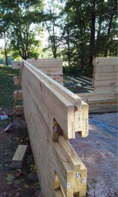 """Saw this """"Modern"""" log cabin design on Pinterst and wanted your guys' thoughts? - Saw this """"Modern"""" log cabin design on Pinterst and wanted your guys' thoughts? Saw this """"Modern"""" log cabin design on Pinterst and wanted your guys' thoughts? Cabin Homes, Log Homes, Outdoor Projects, Wood Projects, Woodworking Plans, Woodworking Projects, Woodworking Tools, Woodworking Organization, Woodworking Quotes"""