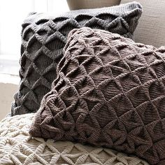 Sculpted Origami Pillow Cover – Heather Gray | west elm