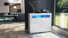 """Storage Unit """"Valencia"""" - in White High Gloss / Various Colors"""