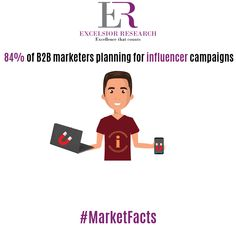 """Many B2B marketers trying influencer campaigns"" #marketfacts #excelsiorresearch #influencermarketing #influencers #b2b #b2bmarketing #b2bmarketing19 #b2bmarketers"