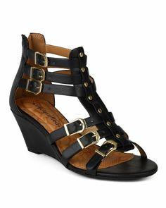 659482a57dd City Classified AG34-Reggo-S Women Leatherette Strappy Open Toe Gladiator  Multi Buckle Wedge Sandal - Black