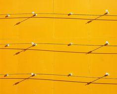 Abstract(Yellow wall 1) by tanakawho, via Flickr
