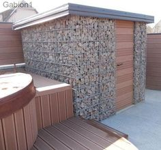 Now You Can Build ANY Shed In A Weekend Even If You've Zero Woodworking Experience! Start building amazing sheds the easier way with a collection of shed plans! Diy Storage Shed Plans, Diy Shed, Wood Storage, Storage Room, Pool Shed, Gabion Wall, Stone Fence, Shed Homes, Diy Fire Pit