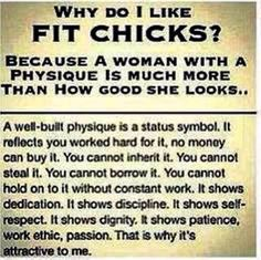 Guys like Fit Chicks. Some females do too, I sure do! We know it's not easy so we admire those chicks that work hard and are committed to being fit! Fitness Motivation, Fitness Quotes, Workout Quotes, Exercise Motivation, Lifting Motivation, Daily Exercise, Fitness Humor, Positive Motivation, Daily Motivation