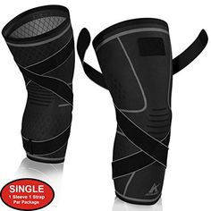 (Advertisement) Knee Brace Compression Sleeve With Strap For Best Support Pain Relief For Meni Knee Compression Sleeve, Surgery Recovery, Knee Brace, Knee Pain, Braces, Arthritis, Pain Relief, Jogging, Running