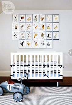 framed alphabet art #nursery