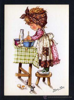 Ilustrador *Mary May* Ed. Com. Prat serie 604 nº B. Nueva. (Postales - Dibujos y Caricaturas)