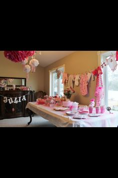 Sweetest girl baby shower ever! Pink! Pink! Pink!