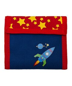 Another great find on #zulily! Navy Blue Rocket Wallet by Aquarella Kids #zulilyfinds