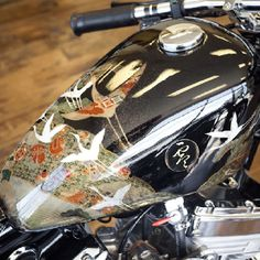 Awesome tank job using actual kimono fabric and lacquer... By Zero Engineering. Some day...