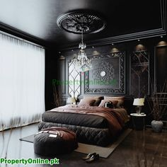 Colorful Bedroom Designs & Ideas Feature Wall Bedroom, Bedroom Wall Colors, Arty Bedroom, Bedroom Décor, Bedroom Decor For Couples, Bedroom Ideas, Interior Decorating, Interior Design, Interior Ideas