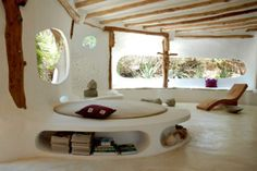cob interior. You can build in seating/ furniture as you construct the dwelling place.