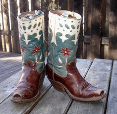 What true blue beauties! Circa 1940...great artistry and workmanship. SOLD from Cayuse in Jackson, Wyoming.