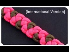 ▶ How to Make a Wind Temple Bar (Paracord) Bracelet by TIAT - YouTube