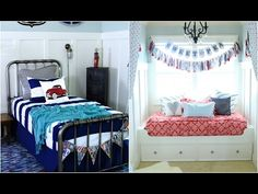 Cutest shared boy/girl bedroom ever!  #bedroomdecor #beddysbed #zipupyourbed #girlsroomdecor #boysroomdecor