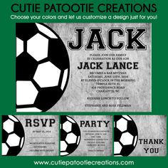Soccer Bar Mitzvah Invitation Sports Theme Bar by OneWhimsyChick
