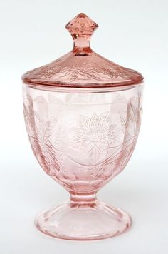 pink depression glass, stunning,