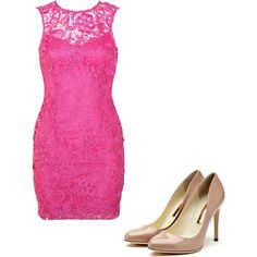 pink, created by allison-pavia on Polyvore
